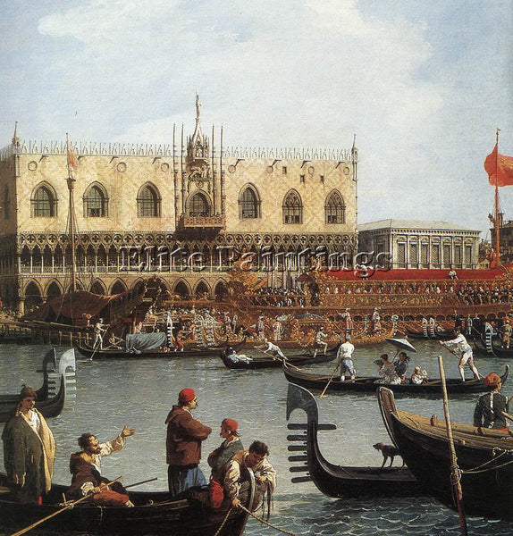 CANALETTO  RETURN BUCENTORO TO THE MOLO ON ASCENSION DAY DETAIL 2 ARTIST CANVAS