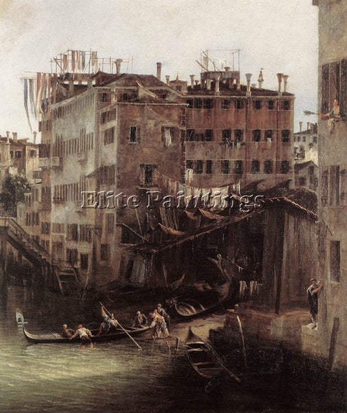 CANALETTO  RIO DEI MENDICANTI DETAIL 2 ARTIST PAINTING REPRODUCTION HANDMADE OIL