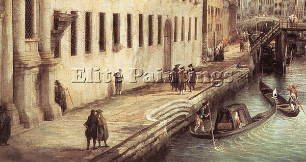 CANALETTO  RIO DEI MENDICANTI DETAIL ARTIST PAINTING REPRODUCTION HANDMADE OIL