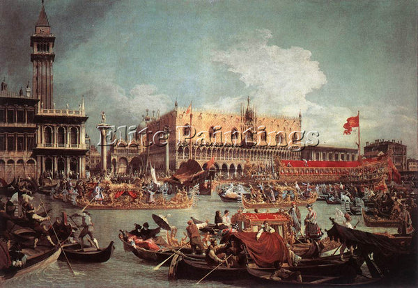 CANALETTO  THE BUCINTORO RETURNING TO THE MOLO ON ASCENSION DAY ARTIST PAINTING