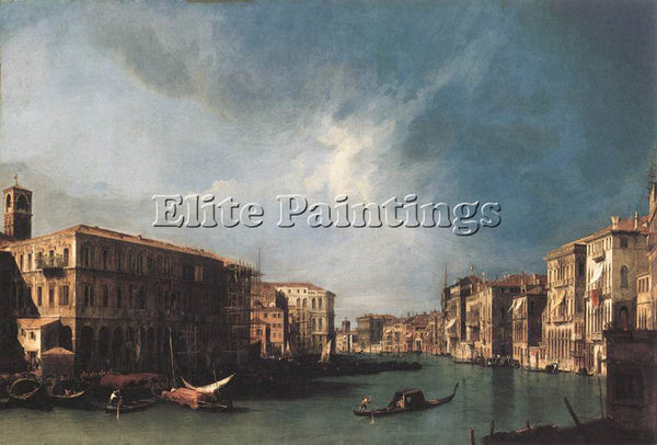 CANALETTO  THE GRAND CANAL FROM RIALTO TOWARD THE NORTH ARTIST PAINTING HANDMADE