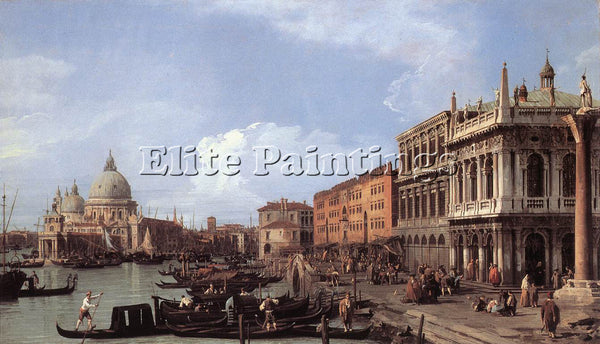 CANALETTO  THE MOLO LOOKING WEST ARTIST PAINTING REPRODUCTION HANDMADE OIL REPRO
