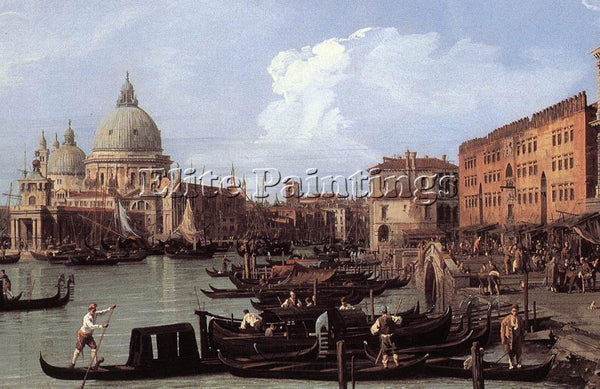 CANALETTO  THE MOLO LOOKING WEST DETAIL ARTIST PAINTING REPRODUCTION HANDMADE