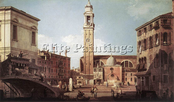CANALETTO  VIEW OF CAMPO SANTI APOSTOLI ARTIST PAINTING REPRODUCTION HANDMADE