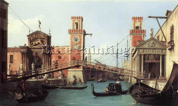 CANALETTO  VIEW OF THE ENTRANCE TO THE ARSENAL ARTIST PAINTING REPRODUCTION OIL