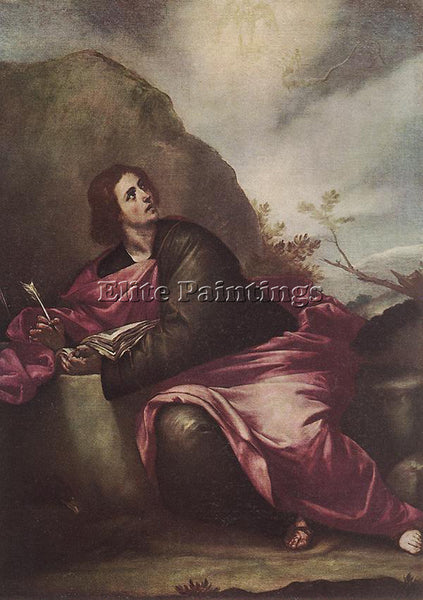 ALONSO CANO ST JOHN THE EVANGELIST ON PATHMOS ARTIST PAINTING REPRODUCTION OIL