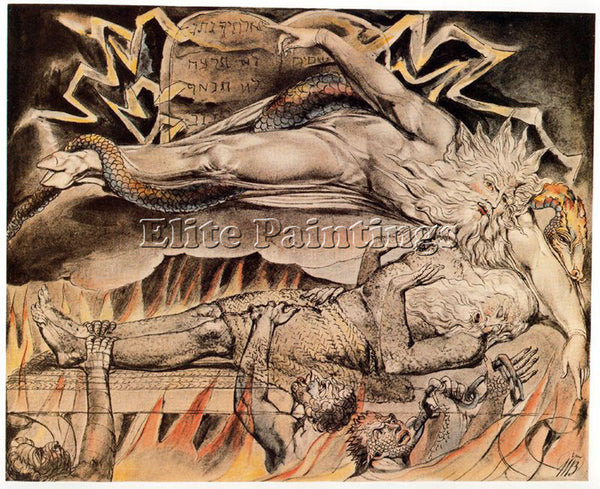 WILLIAM BLAKE BLAK45 ARTIST PAINTING REPRODUCTION HANDMADE OIL CANVAS REPRO WALL