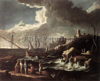 LUCA CARLEVARIS SEASCAPE 1690 ARTIST PAINTING REPRODUCTION HANDMADE CANVAS REPRO