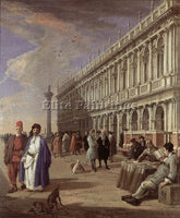 LUCA CARLEVARIS THE PIAZZETTA AND THE LIBRARY ARTIST PAINTING REPRODUCTION OIL