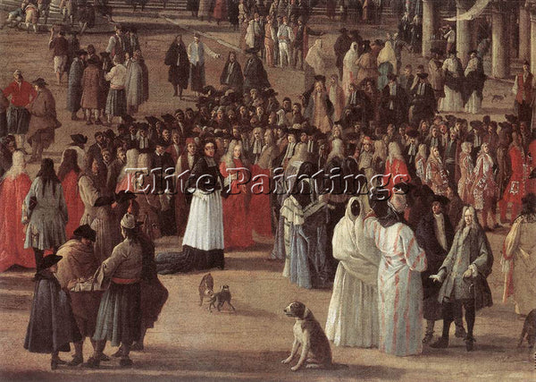 LUCA CARLEVARIS THE RECEPTION OF CARDINAL CESAR D ESTREES DETAIL ARTIST PAINTING