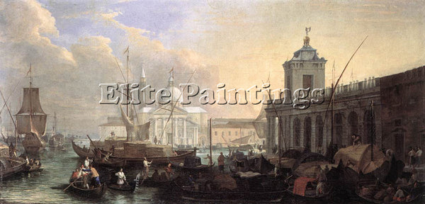 LUCA CARLEVARIS THE SEA CUSTOM HOUSE WITH SAN GIORGIO MAGGIORE PAINTING HANDMADE