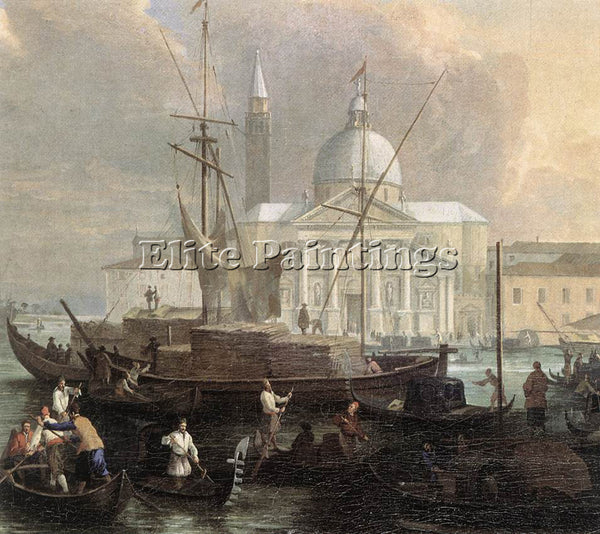 LUCA CARLEVARIS THE SEA CUSTOM HOUSE WITH SAN GIORGIO MAGGIORE DETAIL ARTIST OIL