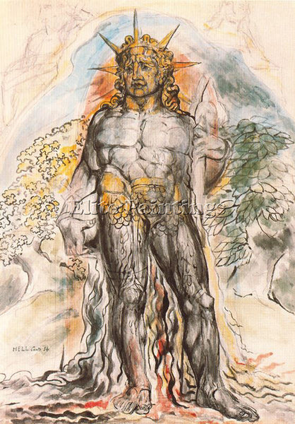 WILLIAM BLAKE BLAK47 ARTIST PAINTING REPRODUCTION HANDMADE OIL CANVAS REPRO WALL