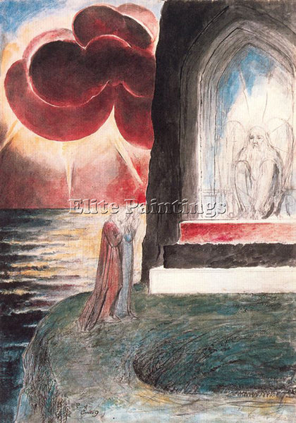 WILLIAM BLAKE BLAK49 ARTIST PAINTING REPRODUCTION HANDMADE OIL CANVAS REPRO WALL