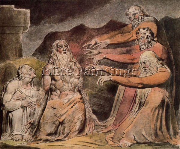 WILLIAM BLAKE BLAK50 ARTIST PAINTING REPRODUCTION HANDMADE OIL CANVAS REPRO WALL