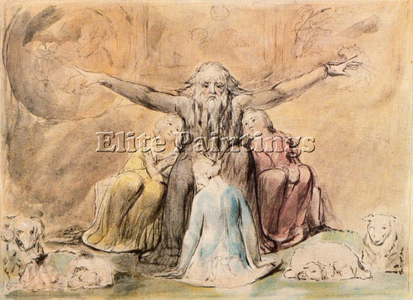 WILLIAM BLAKE BLAK53 ARTIST PAINTING REPRODUCTION HANDMADE OIL CANVAS REPRO WALL