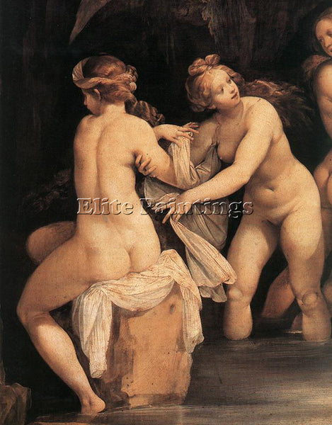 GIUSEPPE CESARI DIANA AND ACTAEON DETAIL ARTIST PAINTING REPRODUCTION HANDMADE