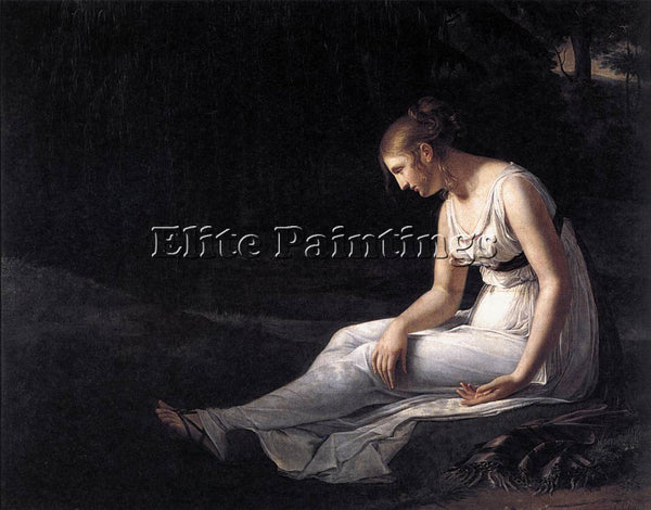 FRENCH CHARPENTIER CONSTANCE MELANCHOLY ARTIST PAINTING REPRODUCTION HANDMADE