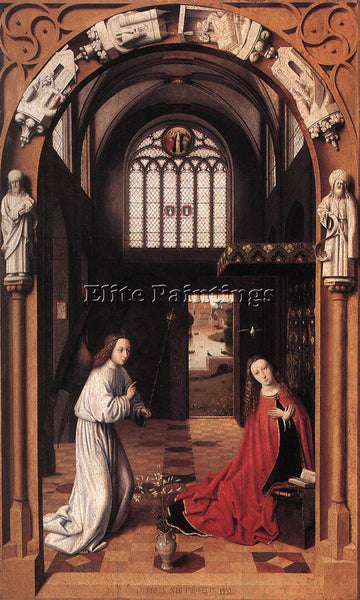 PETRUS CHRISTUS ANNUNCIATION ARTIST PAINTING REPRODUCTION HANDMADE CANVAS REPRO