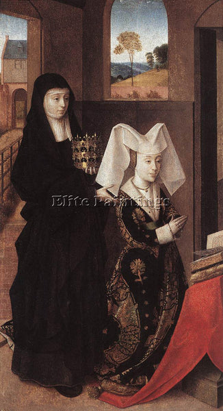 PETRUS CHRISTUS ISABEL OF PORTUGAL WITH ST ELIZABETH ARTIST PAINTING HANDMADE