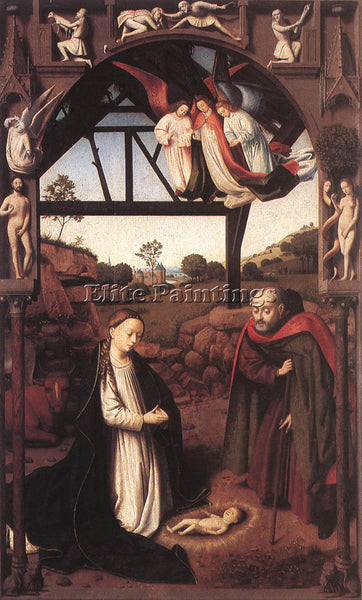 PETRUS CHRISTUS NATIVITY ARTIST PAINTING REPRODUCTION HANDMADE CANVAS REPRO WALL
