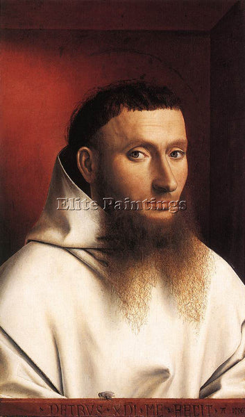 PETRUS CHRISTUS PORTRAIT OF A CARTHUSIAN ARTIST PAINTING REPRODUCTION HANDMADE