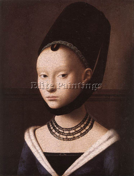 PETRUS CHRISTUS PORTRAIT OF A YOUNG GIRL ARTIST PAINTING REPRODUCTION HANDMADE