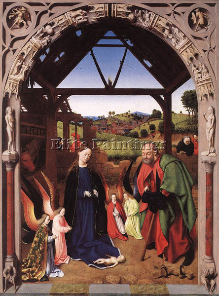PETRUS CHRISTUS THE NATIVITY ARTIST PAINTING REPRODUCTION HANDMADE CANVAS REPRO