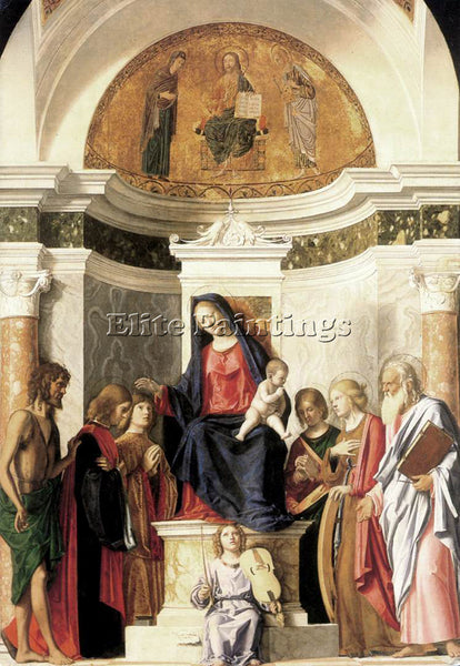 CIMA DA CONEGLIANO MADONNA ENTHRONED WITH THE CHILD ARTIST PAINTING REPRODUCTION