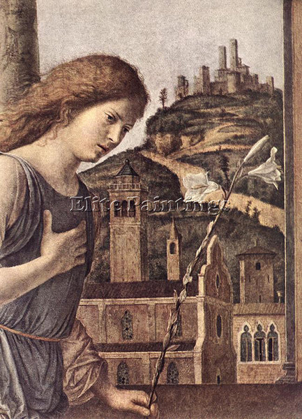 CIMA DA CONEGLIANO THE ANNUNCIATION DETAIL ARTIST PAINTING REPRODUCTION HANDMADE
