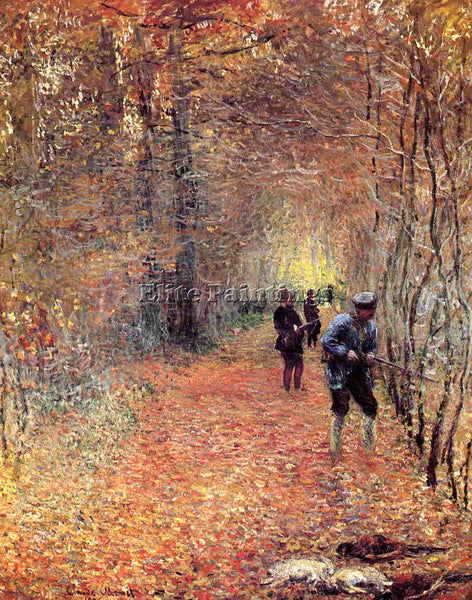 CLAUDE MONET HUNTING ARTIST PAINTING REPRODUCTION HANDMADE OIL CANVAS REPRO WALL