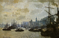 CLAUDE MONET THE PORT OF LONDON ARTIST PAINTING REPRODUCTION HANDMADE OIL CANVAS
