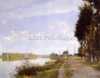 CLAUDE MONET THE PROMENADE AT ARGENTEUIL 1 ARTIST PAINTING REPRODUCTION HANDMADE