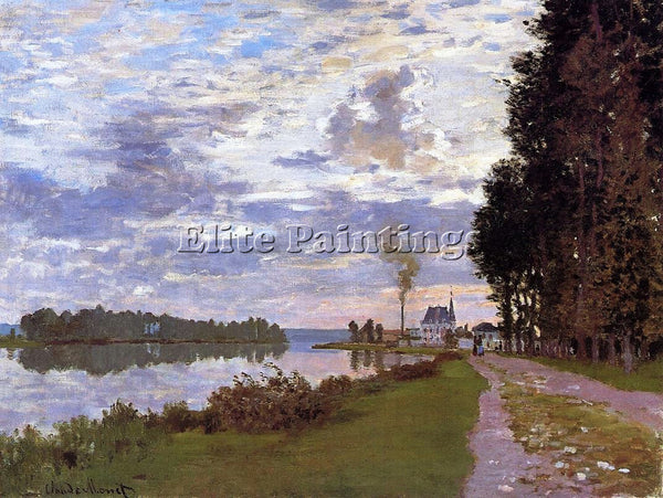 CLAUDE MONET THE PROMENADE AT ARGENTEUIL 2 ARTIST PAINTING REPRODUCTION HANDMADE