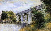 CLAUDE MONET THE RAILWAY BRIDGE AT ARGENTEUIL 1 ARTIST PAINTING REPRODUCTION OIL