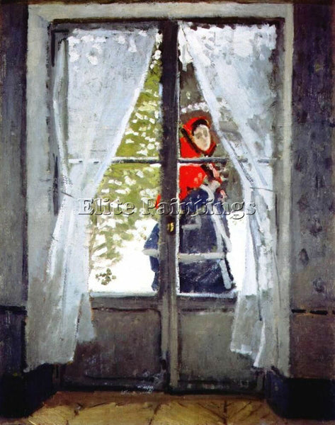CLAUDE MONET THE RED CAPE 1868 1871 ARTIST PAINTING REPRODUCTION HANDMADE OIL