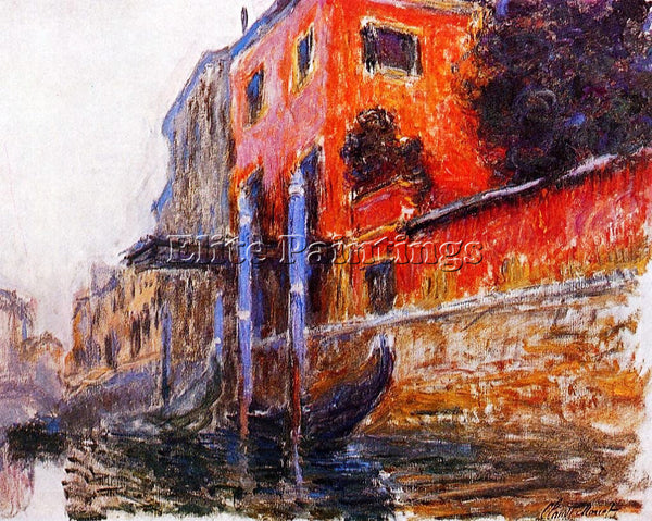 CLAUDE MONET THE RED HOUSE ARTIST PAINTING REPRODUCTION HANDMADE OIL CANVAS DECO