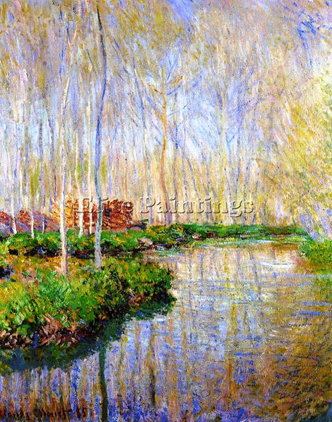 CLAUDE MONET THE RIVER EPTE ARTIST PAINTING REPRODUCTION HANDMADE OIL CANVAS ART