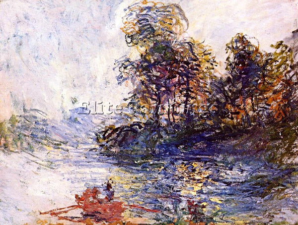 CLAUDE MONET THE RIVER ARTIST PAINTING REPRODUCTION HANDMADE CANVAS REPRO WALL