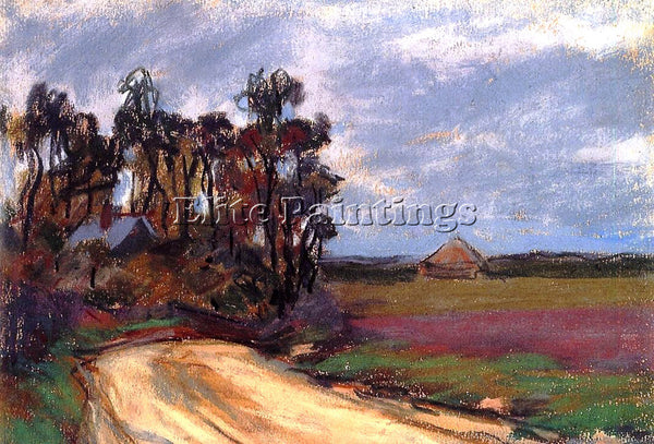CLAUDE MONET THE ROAD AND THE HOUSE ARTIST PAINTING REPRODUCTION HANDMADE OIL