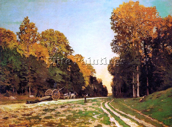 CLAUDE MONET THE ROAD FROM CHAILLY TO FONTAINEBLEAU ARTIST PAINTING REPRODUCTION