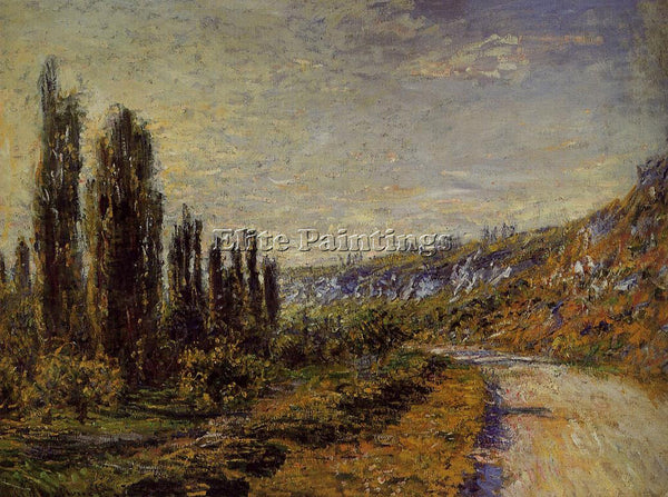 CLAUDE MONET THE ROAD FROM VETHEUIL ARTIST PAINTING REPRODUCTION HANDMADE OIL