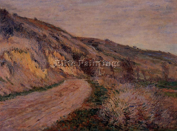 CLAUDE MONET THE ROAD TO GIVERNY ARTIST PAINTING REPRODUCTION HANDMADE OIL REPRO