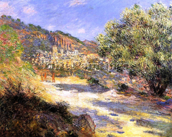 CLAUDE MONET THE ROAD TO MONTE CARLO ARTIST PAINTING REPRODUCTION HANDMADE OIL