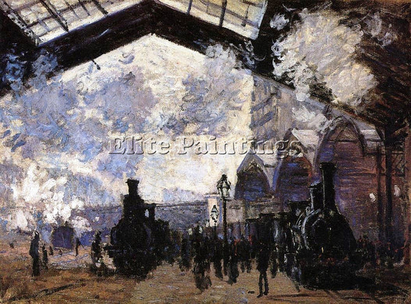 CLAUDE MONET THE SAINT LAZARE STATION 1 ARTIST PAINTING REPRODUCTION HANDMADE
