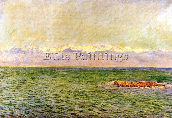 CLAUDE MONET THE SEA AND THE ALPS ARTIST PAINTING REPRODUCTION HANDMADE OIL DECO