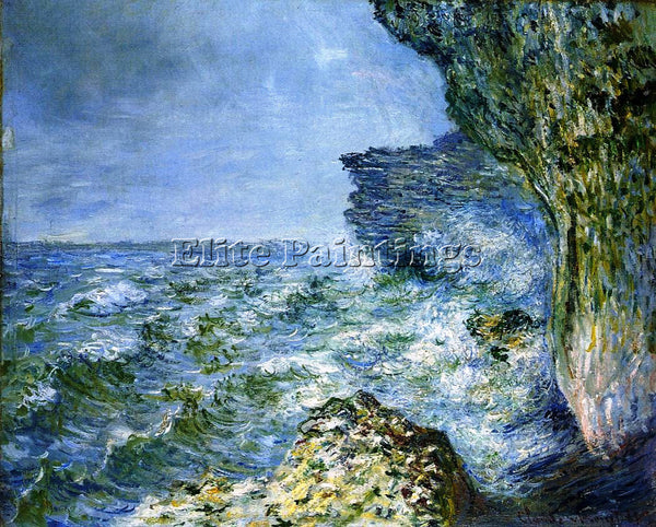 CLAUDE MONET THE SEA AT FECAMP ARTIST PAINTING REPRODUCTION HANDMADE OIL CANVAS