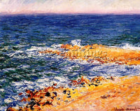 CLAUDE MONET THE SEA IN ANTIBES ARTIST PAINTING REPRODUCTION HANDMADE OIL CANVAS