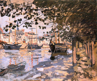 CLAUDE MONET THE SEINE AT ROUEN 1872 ARTIST PAINTING REPRODUCTION HANDMADE OIL
