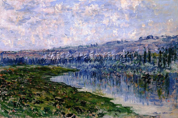 CLAUDE MONET THE SEINE AND THE CHAANTEMESLE HILLS ARTIST PAINTING REPRODUCTION